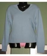 PRIVE V Neck Super Soft CASHMERE Sweater Sz Lrg NWOT - $26.00