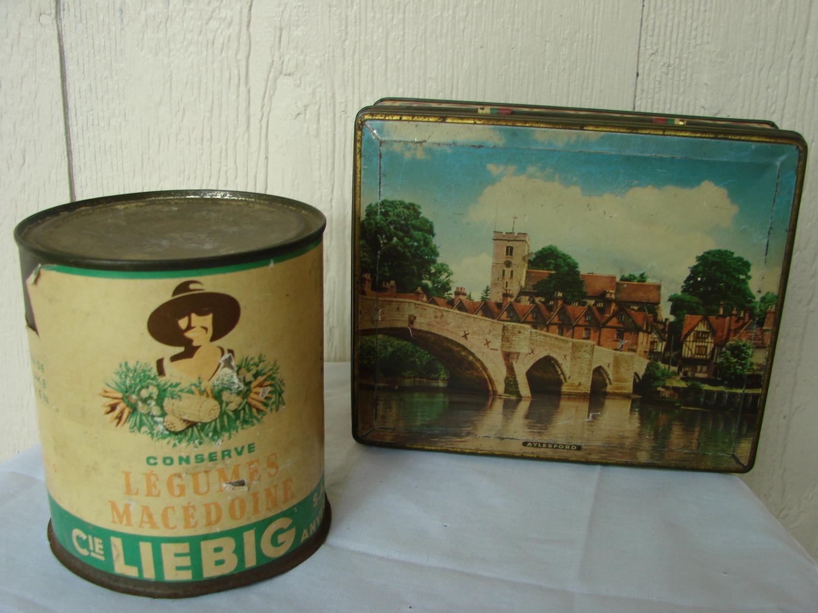 Antique Tins-Aylesford, Kent & Liebig-RARE