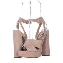 Steve Madden Jodi Platform Sandals 454, Blush SUede, 7 US - $28.79