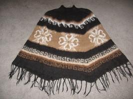 Turtleneck Poncho,natural Alpaca wool,outerwear - $98.00