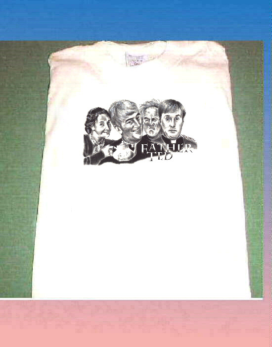 FATHER TED WHITE COTTON SHORT SLEEVE T SHIRT SIZE XXXL BRITISH TELEVISION COMEDY