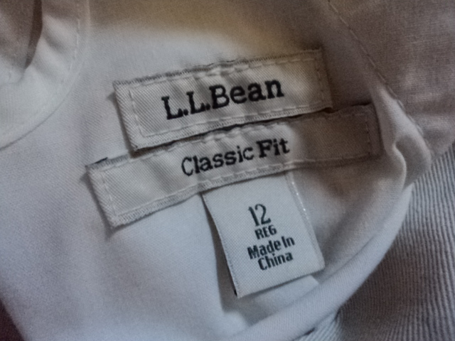 L.L. Bean Cropped Classic Fit Stone Colored Pants NWT