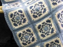 Crochet Pattern Leaflet AMAZING STAR AFGHANS Very Unique! image 2