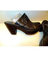 BORN Women's Slip On Leather Uppers Mules Clogs Shoes Size 10/42 Black - $26.99