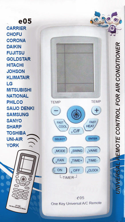 Universal A/C Remote-Carrier,Gree,LG,Midea,TCL,Whirlpool,York,Toshiba,Fujitsu