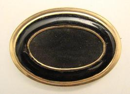 ANTIQUE ENAMEL & GOLD FILLED PIN - $50.00