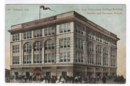 Polytechnic College Oakland California 1908 postcard - $4.46