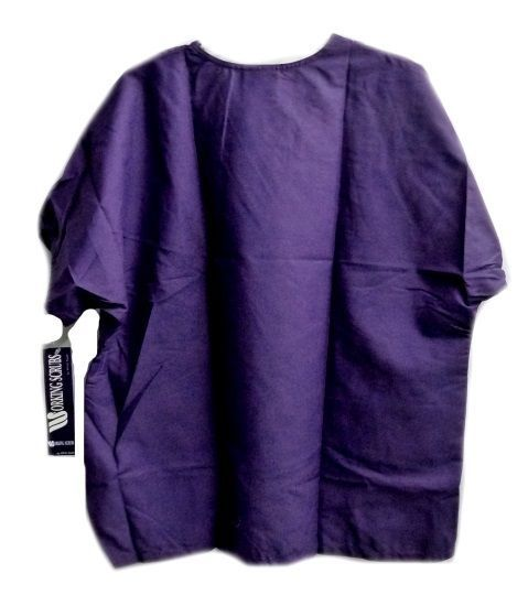 Purple Scrub Top 2XL Working Scrubs White Swan V Neck Chest Pocket Unisex New image 5