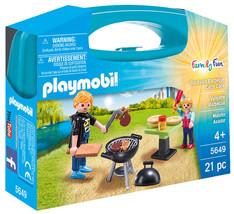 Playmobil 5649 Backyard Barbecue Carry Case Playset - $13.00
