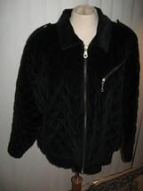 Elisabeth by Liz Claiborne Jacket Coat Blk Quilted Velour - $20.00