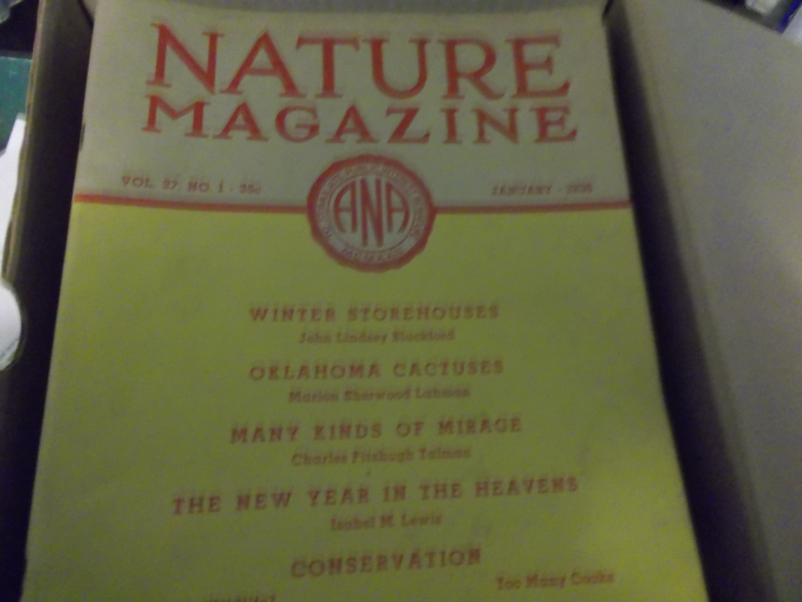 Nature Magazines back Issues random 1936 thru 1939