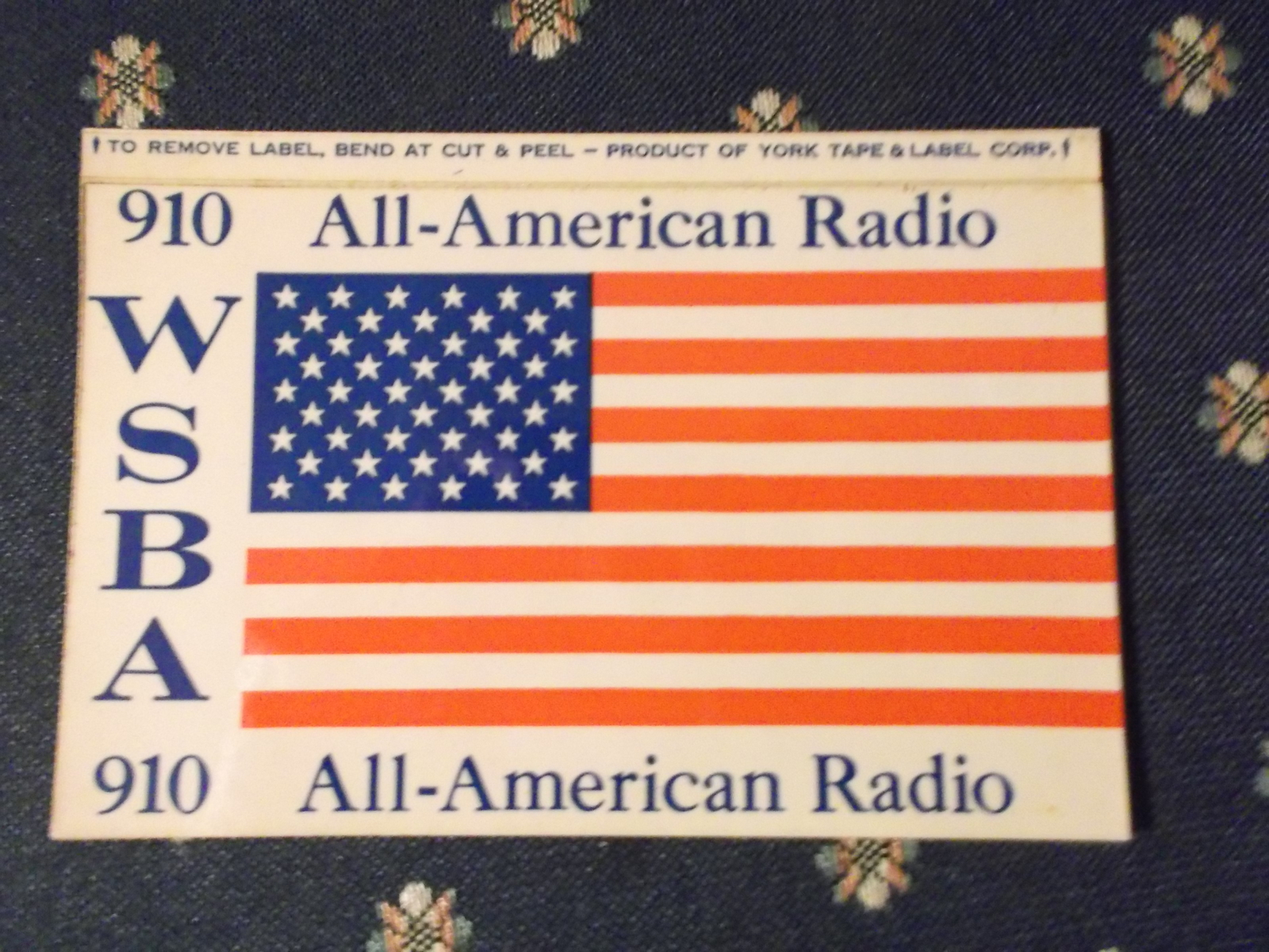 WSBA 910 All American Radio in York Sticker or Small Bumper Sticker