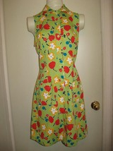 R-Wear Rampage Co Dress Bright Lime Mod Floral 9-11 - $14.99