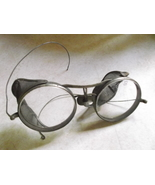 """Motorcycle Glass or Goggles No Tint, marked """"S""""-vintage - $25.00"""