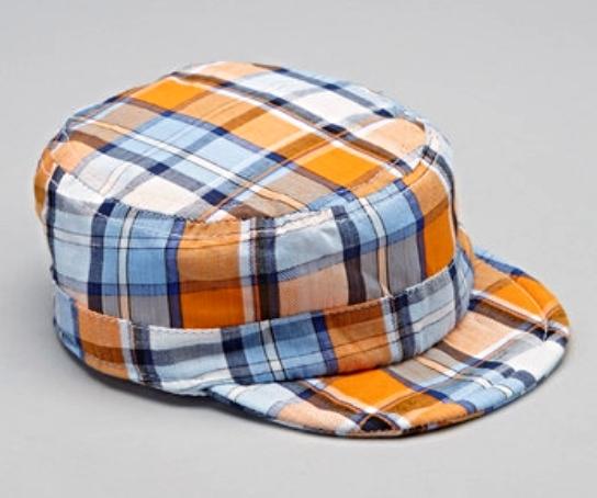 Baby Boys Orange Plaid Newsboy Hats Caps Shower Gift MSRP $30.00 SAVE $10.01