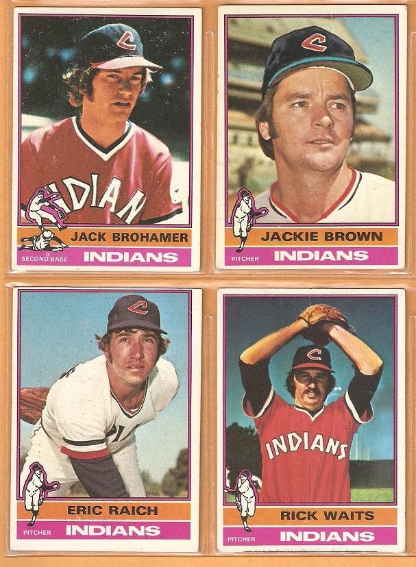 1976 TOPPS CLEVELAND INDIANS TEAM LOT {13} BOOG POWELL BUDDY BELL CARTY HENDRICK