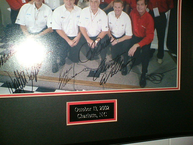 Ryan Newman Rusty Wallace Autographed Photo Framed Nascar