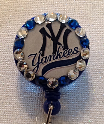 Primary image for Mlb New York Yankees Badge - Yankees Badge - Yankees Id - Swarvoski Crystals