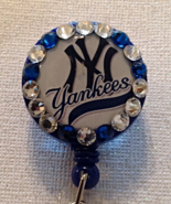 Mlb New York Yankees Badge - Yankees Badge - Yankees Id - Swarvoski Crys... - $9.95