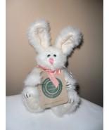 "BOYD Bunny Rabbit White Plush ""RETIRED"" Animal 6"" tall NEW!! Pink Ribbon  - $9.26"