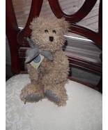 "Boyd BEAR Plush Bean 16"" Tall RETIRED! Curly Hair with Plaid Bow New!! S... - $18.06"