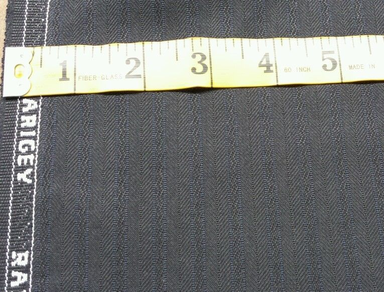 Super Italian Wool Blue Stripes Suiting fabric 4.1 Yards MSRP$695