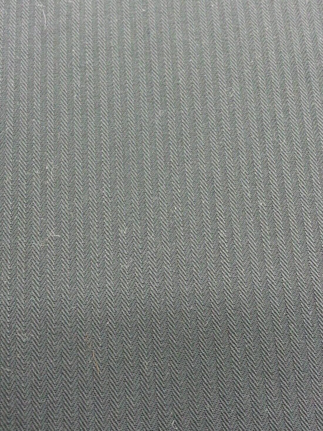 Navy Blue HeringBone Italian All Wool Worsted suiting fabric 5+ Yards-MSRP $695