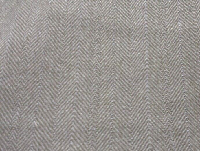 6.3 YardsSuper 120'S Italian Wool Bleu Gray Herringbone Desinger Suit Fabric