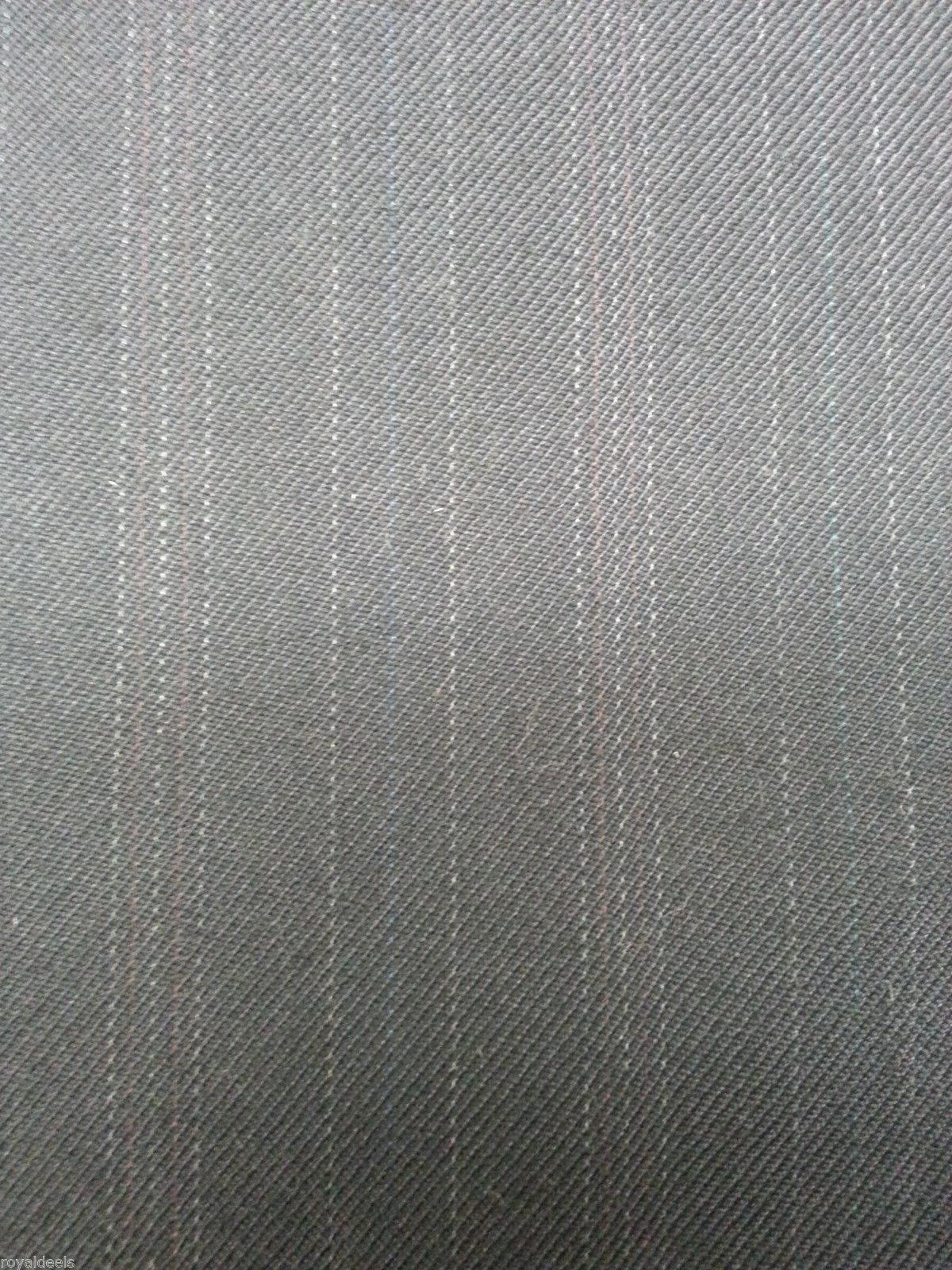 5.5 YRD NAVY BLUE ENGLISH WOOL Pin Stripe Suit Skirt Fashion Sewing Fabric