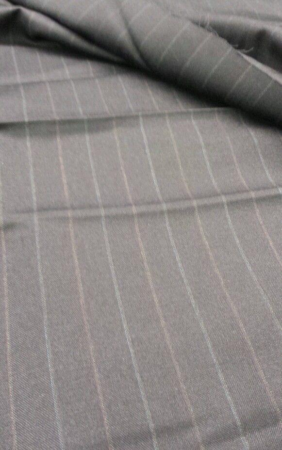 Super Fine Blue Pin Stripe ITALIAN 120'S WOOL SUITING FABRIC 7.5 Yard MSRP$895