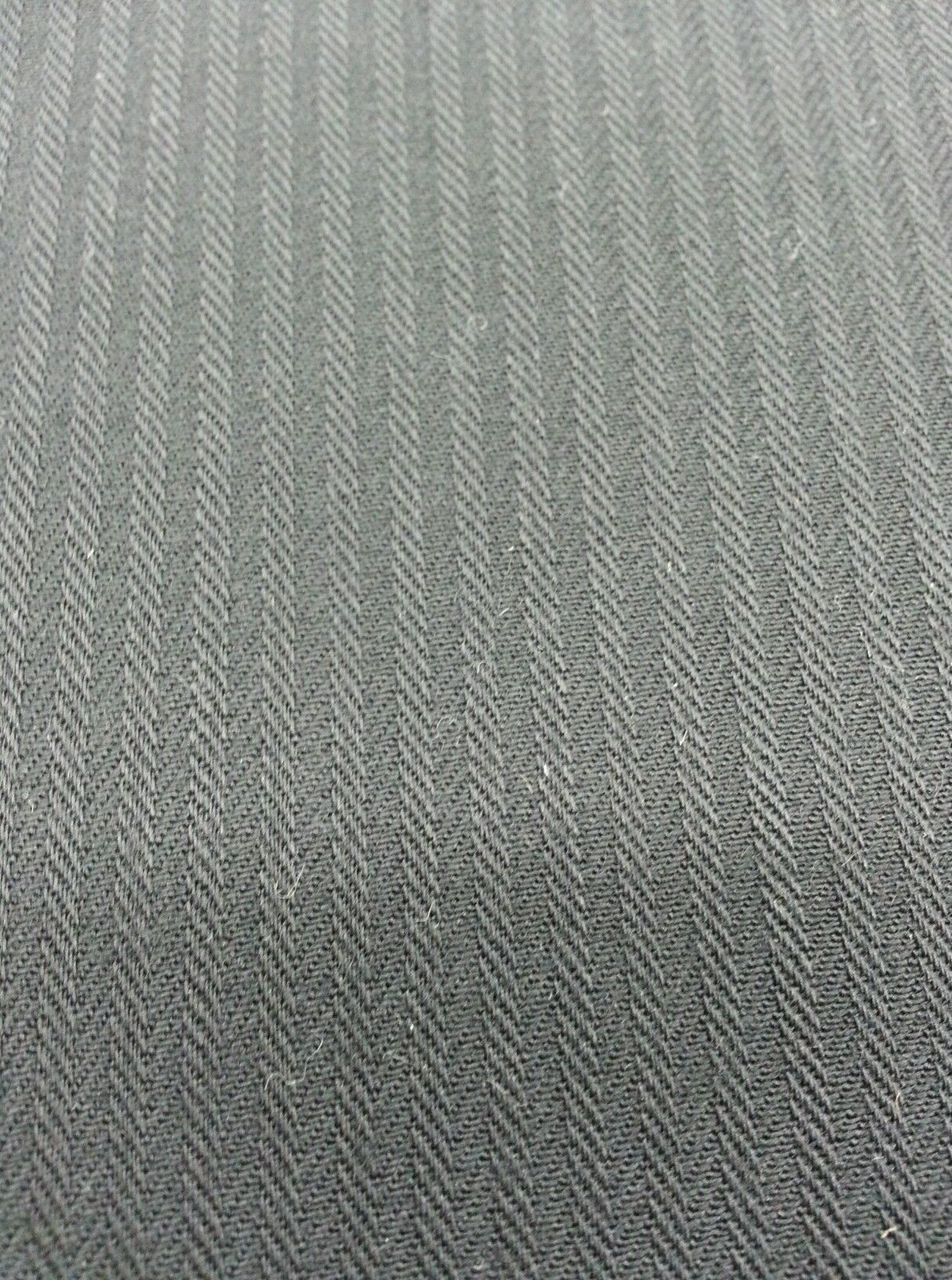Navy Blue HeringBone Italian All Wool Worsted suiting fabric 4.1 Yards-MSRP $495