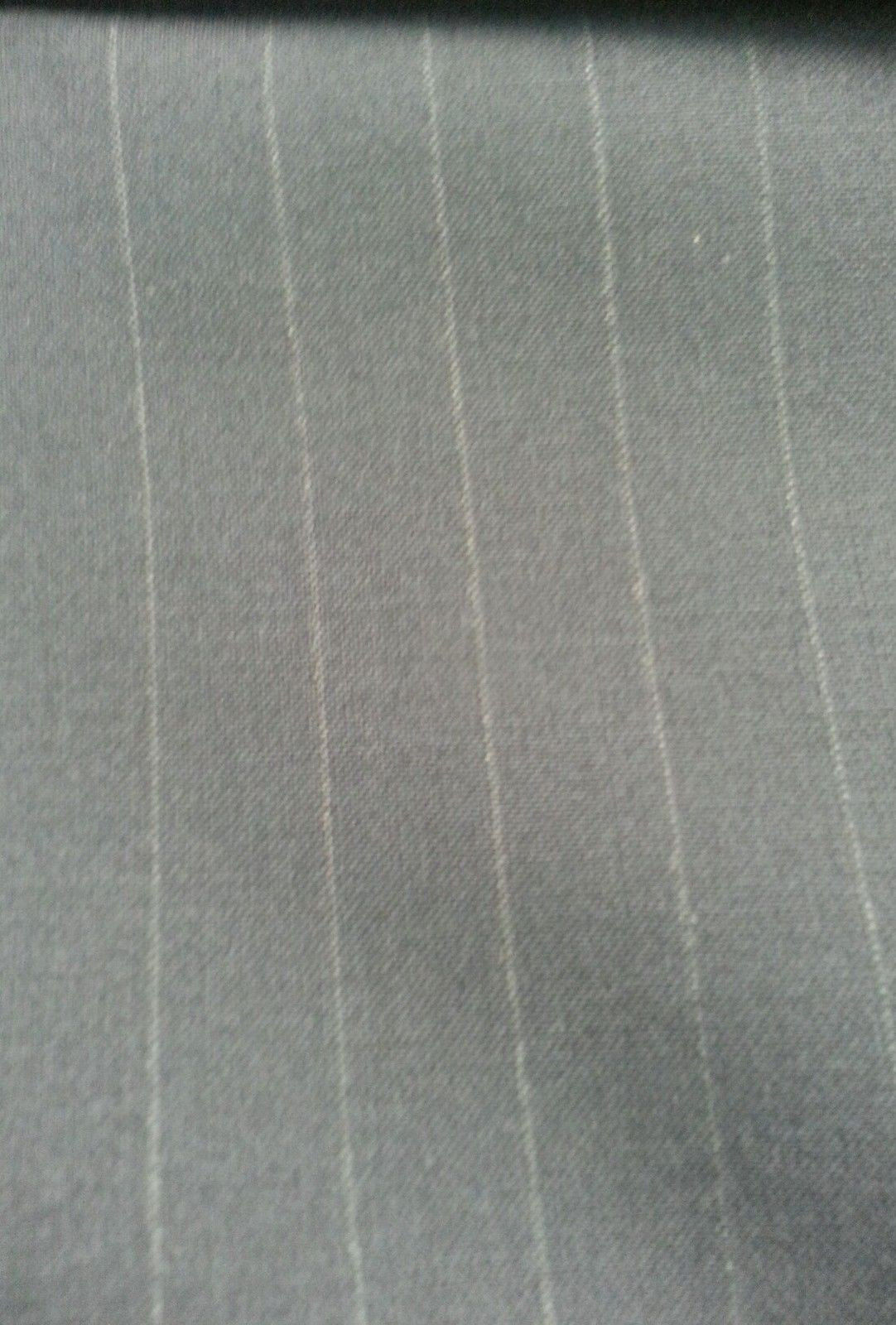 Italian All Wool Worsted suiting fabric Pin Stripe Blue 5 yards USA Seller