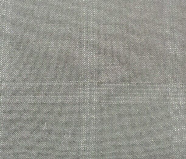 5.4 YARDS SUPER130'S ITALIAN FINE LIGHTWEIGHT WOOL Blue Checked Suiting Fabric