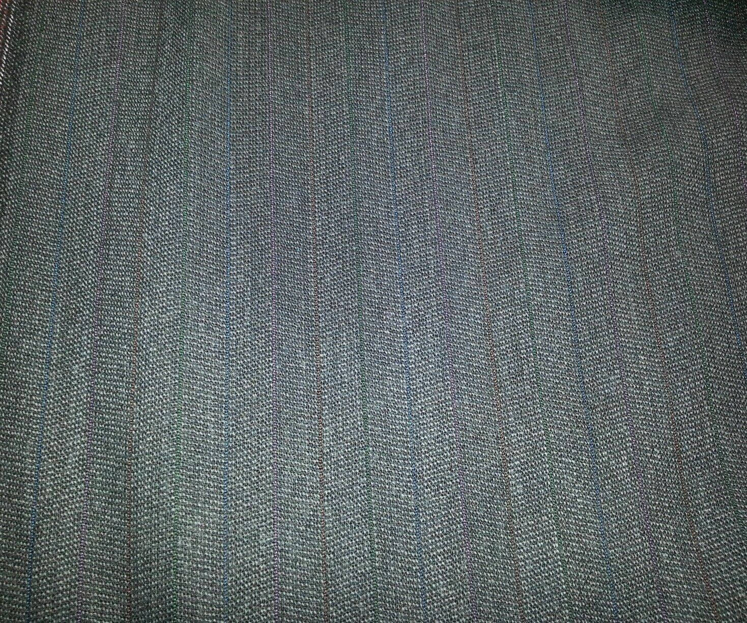 10 YARD Grey  SUPER  WOOL DESIGNER SUIT FABRIC MSRP $950 FREE SHIPPING!