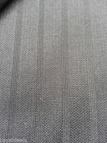7  Yard Super 100's Wool Black Worsted Suit Fabric for Joseph Razino MSRP$750