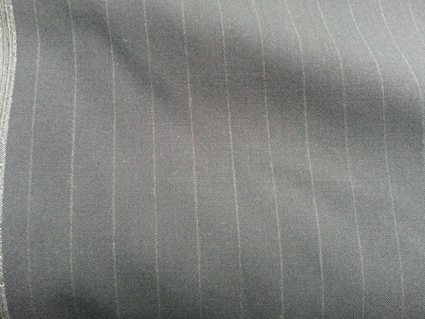 8 YARDS  SUPER 130'S ENGLISH WOOL WORSTED PIN STRIPESUITING FABRIC MSRP $1200