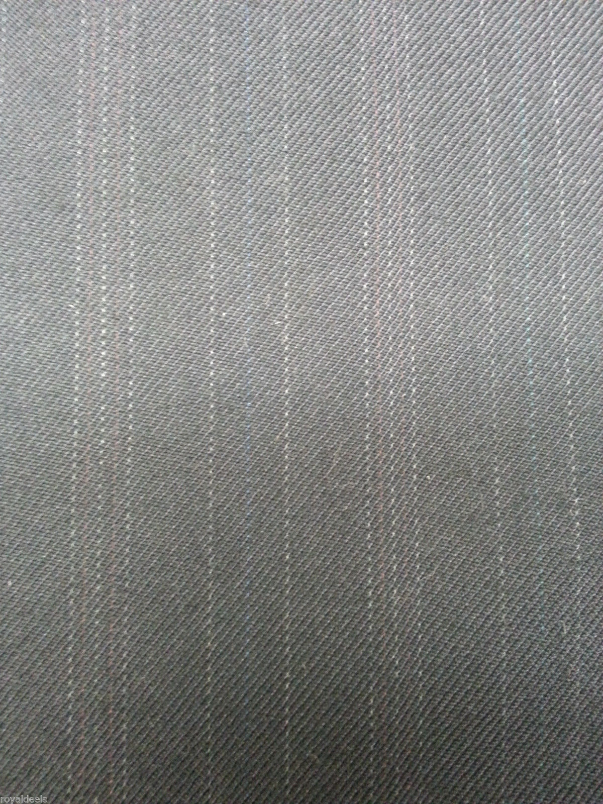 7 YRD  BLUE ENGLISH WOOL Pin Stripe Suit Skirt Jacket Fashion Sewing Fabric