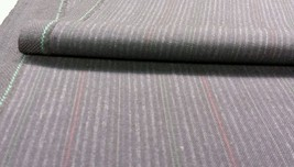SUPER ITALIAN WOOL GRAY PINSTRIPE SUITING FABRIC 4.5 YARDS -MSRP $980 - $56.18