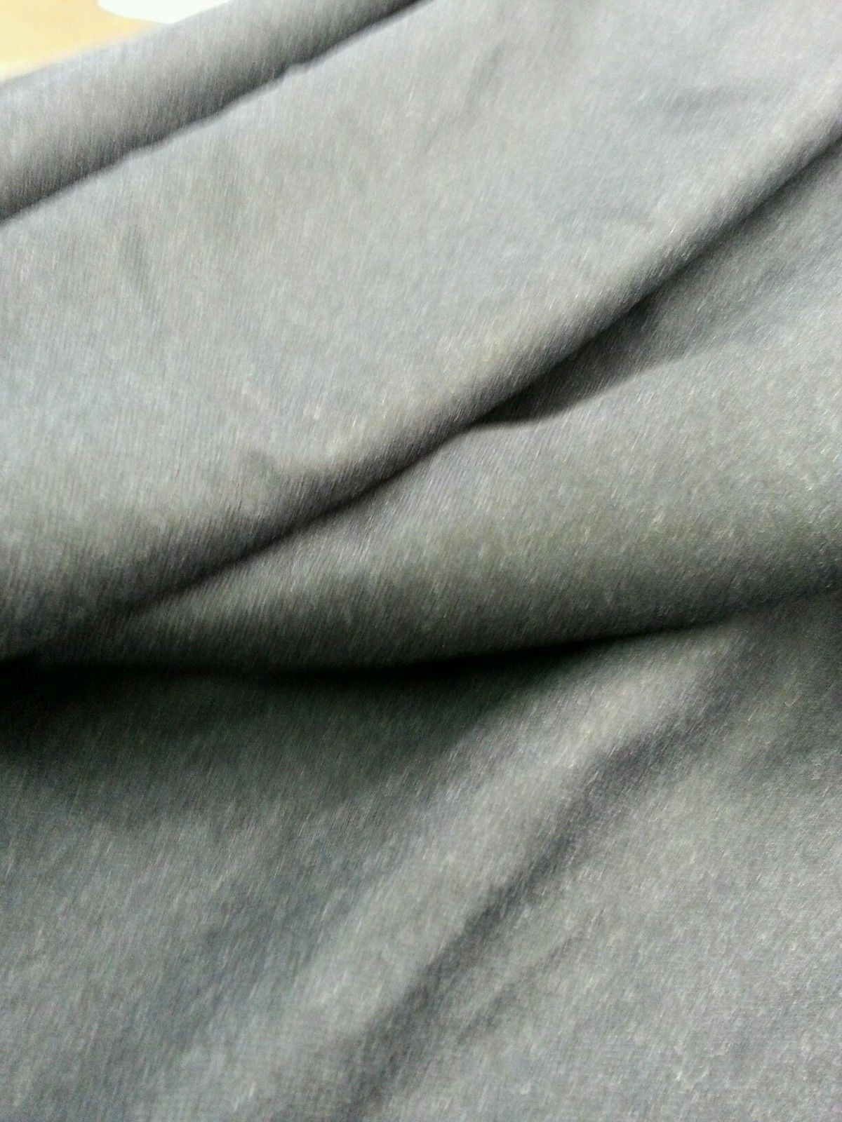 Super 120'S Wool full Weight Blue grey fine classic Suiting Fabric 6 Yards