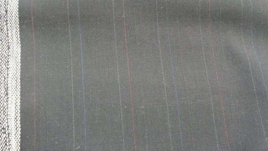 "5 YARD SUPER FINE BLUE PIN STRIPE ITALIAN 120'S WOOL SUITING FABRIC MSRP$595 58"""