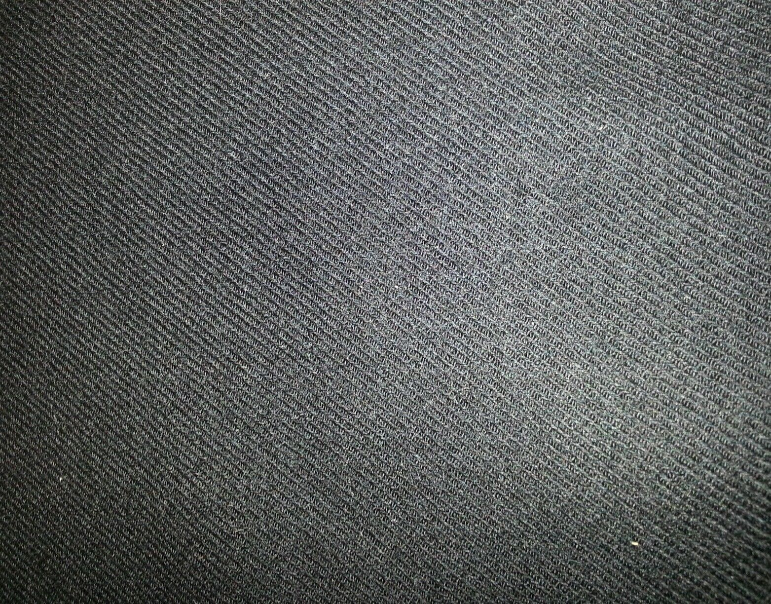 Black Twill Super 120'S  Full Weight Wool Suiting Fabric 5 Yards MSRP $695