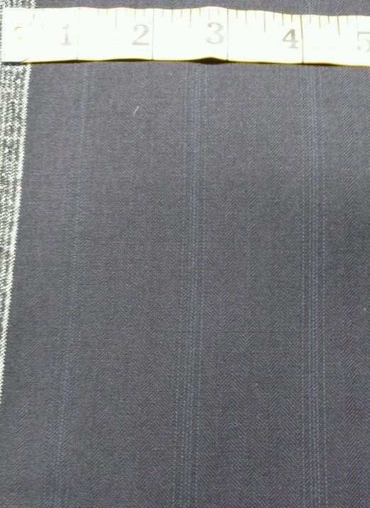 Super Italian 130'S Wool Blue  Stripes Suiting fabric 6.6 Yards MSRP$895