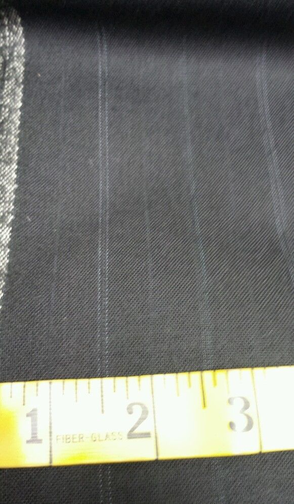 Italian120'S All Wool Worsted suiting fabric Pin Stripe Blue 5.8 Yrds US Seller