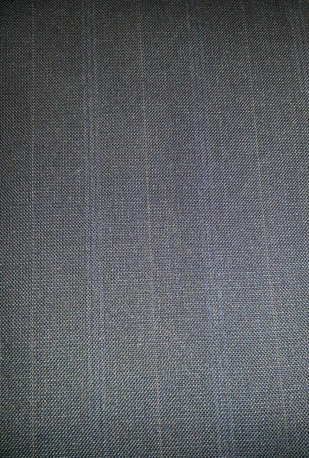 10+ YARD  BLUE GREY LIGHTWEIGHT ITALIAN WOOL SUPER 120'S MSRP $1300