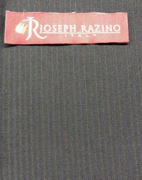 Black Fine 120'S Italian wool Pin Stripe Suit-Skirt -Sewing Fabric 7.2 YARD
