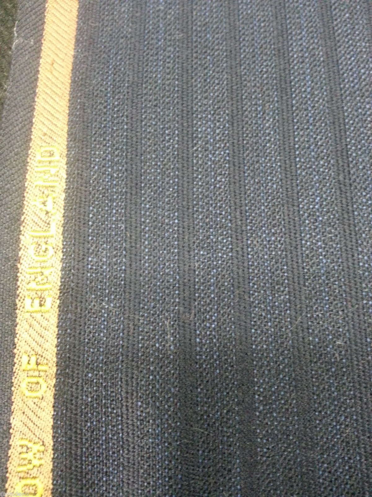 120'S ENGLISH FINE WOOL Wool Suit /Skirt  Fabric Blue Striped -6 Yard MSRP $750