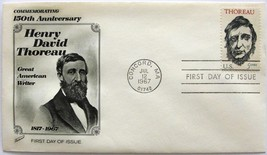 July 12, 1967 First Day of Issue, Fleetwood Cover, Henry David Thoreau #6 - $2.98