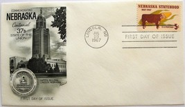 July 29, 1967 First Day of Issue, Fleetwood Cover, Nebraska Statehood  #7 - $2.74