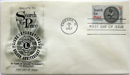 July 5, 1967 First Day of Issue, Fleetwood Cover, Lions International #5 - $1.98