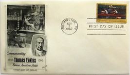November 2, 1967 First Day of Issue, Fleetwood Cover, Thomas Eakins, Art... - $2.49
